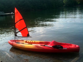 Falcon Sails can be used on any size kayak