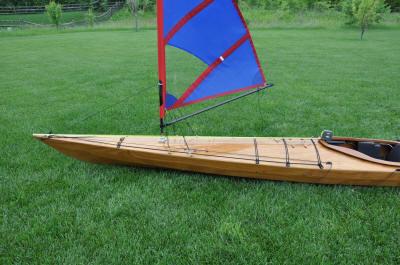 Kayak Sail Install Picture