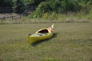Kayak Sail stowed on Tarpon 14