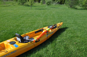 Kayak Sail stowed