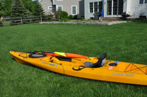 Kayak Sail lowered
