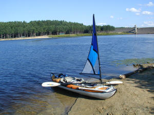 Kayak Sail on a Inflateable Kayak